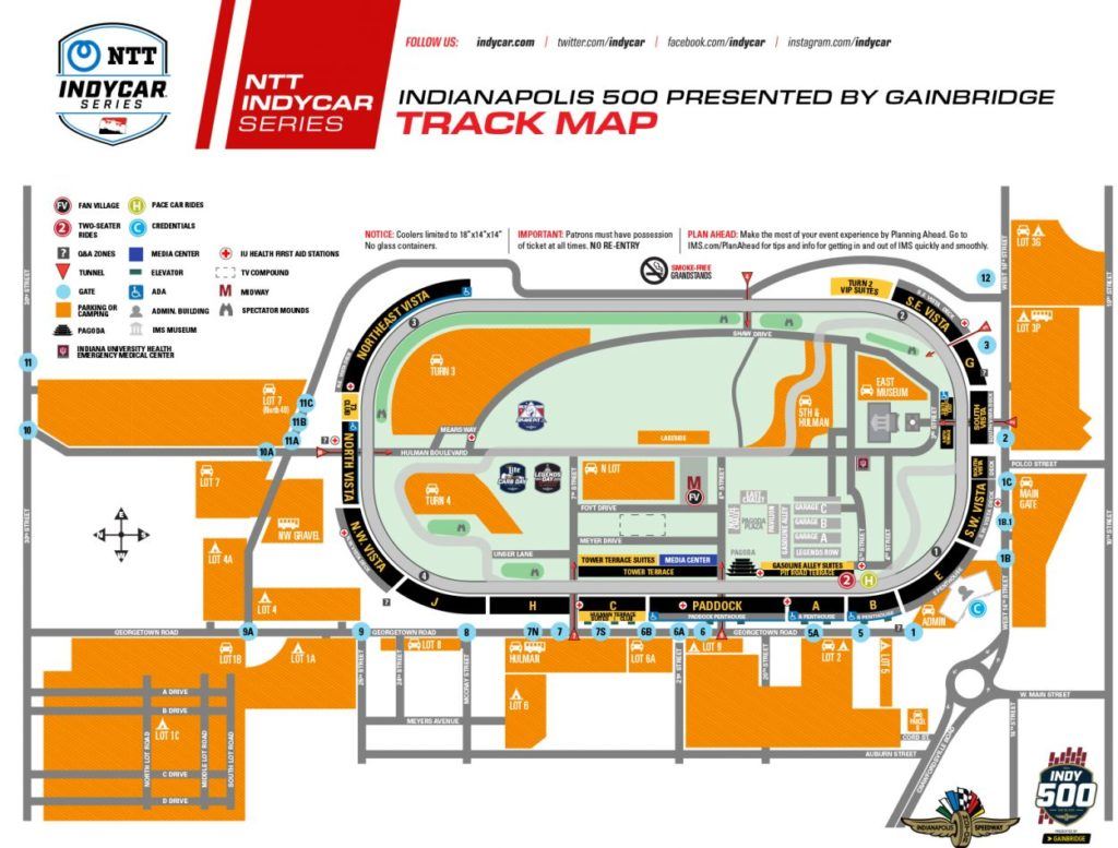 Indianapolis 500 track map